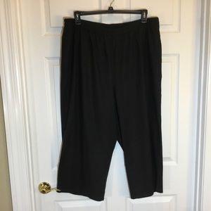 "Susan Graver QVC 87935 Black ""Pull on Pants"""
